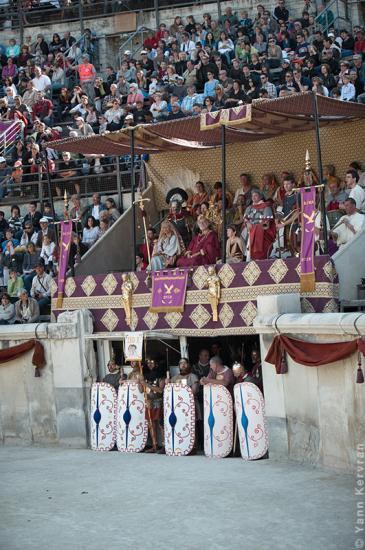 Aeneatores aux grands jeux romains à Nîmes les 17 et 18 avril 2010